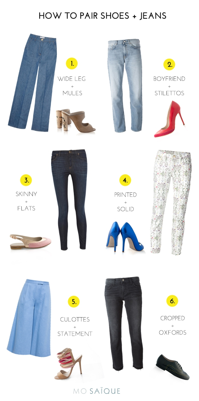 How to pair jeans with shoes | MO SAIQUE